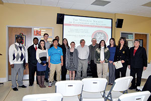 Fifteen students inducted into  Leadership society