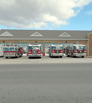 Forest City Fire Trucks Ready To GO