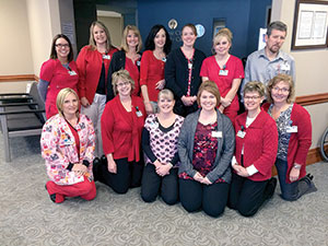 Forest City Family Care goes red for heart health