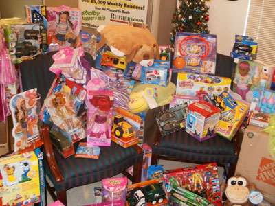 Rutherford Weekly Toy Drive...