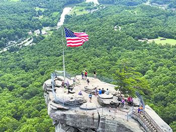 Many View Chimney Rock Quarter Million Visitors Come To Great Big Old Rock Yearly