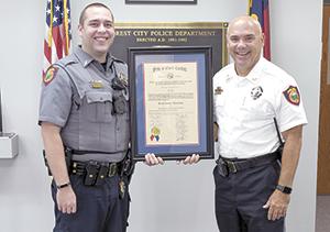 Lt. Huckabee receives Advanced Law Enforcement Certificate