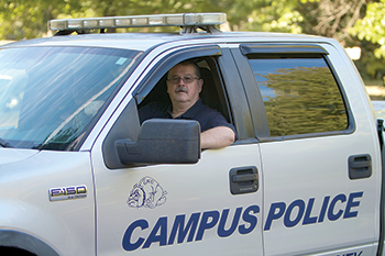Carving the Keys of Life GWU Police Captain Larry Thomas Keeps Building on Career, Hobby