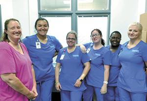 Nursing Students Help Out At Senior Center