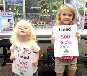 Kids are working on reading  1,000 books