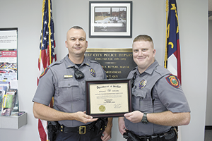 Aaron Boyd presented Intermediate Law Enforcement Certificate