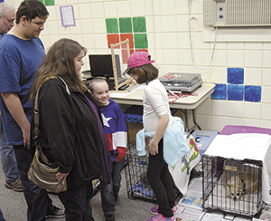 Pet adoption hosted at  county library