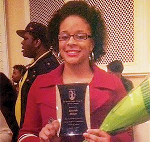 Kaziah Miller recognized as the winner of the 2015 MLK Service Award at UNCG