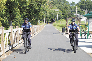 Forest City Police Department  Patrolling the Thermal Belt Rail Trail