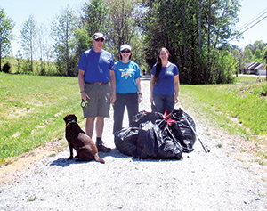 Rutherford Outdoor Coalition  volunteers take part in Rail Trail clean-up