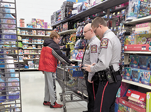 Rutherfordton Police Dept. offers Shop with a Cop