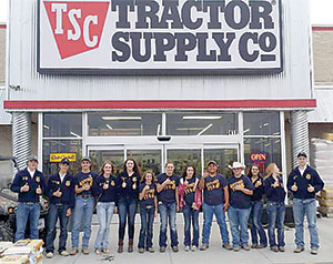 TRACTOR SUPPLY COMPANY SEES SUPPORT DURING FFA ORGANIZATION SCHOLARSHIP PROGRAM