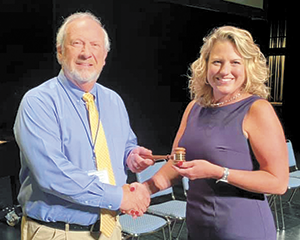 Board chair recognized