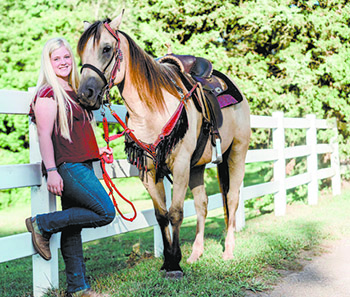 Barrel racing caught the attention of this R-S Central senior