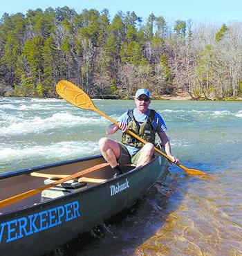 Broad Riverkeeper David Caldwell helps keep our NC rivers clean