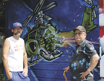 Shelby artist gives Army veteran a pleasant (and colorful) surprise