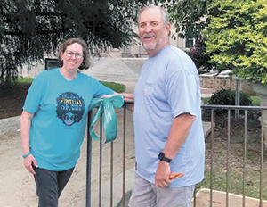 Teal ribbons honor Town Attorney Beth Miller, ovarian cancer survivor